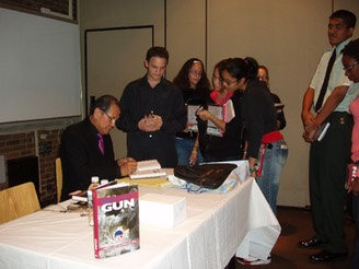 Mr.Matsuo and St.John's GEAR UP Students at book signing